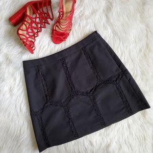 Banana Republic Black Crochet Design Skirt